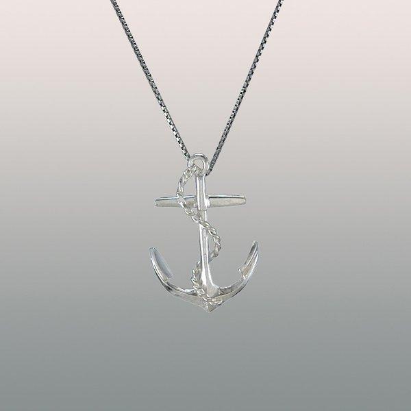 halsband ankare silver
