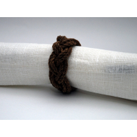 Napkinring hemp cord with tar