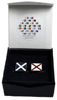 Signal flagg Cuff links