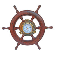 Rudder with clock