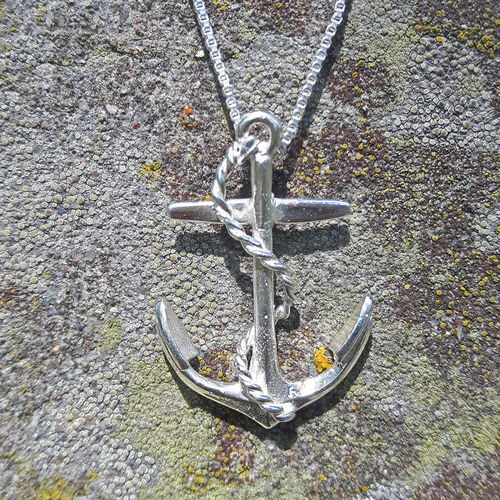Necklace Decorated Anchor