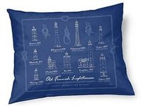 Old Finnish lighthouses cushion case