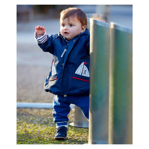 Raincoat with sailing boat for babies