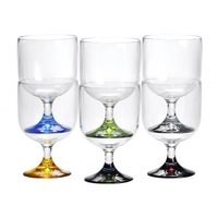 Party stackable wine cup 6-pack colors