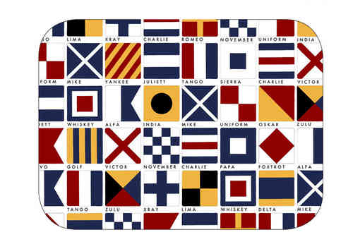Code Flags tray 27x20 cm