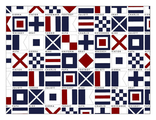 Code Flags placemat