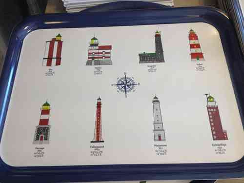 Tray-Finnish Lighthouses 32x42cm