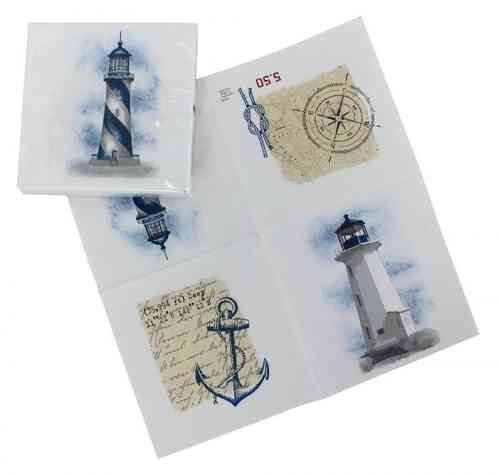 Paper napkin lighthouses