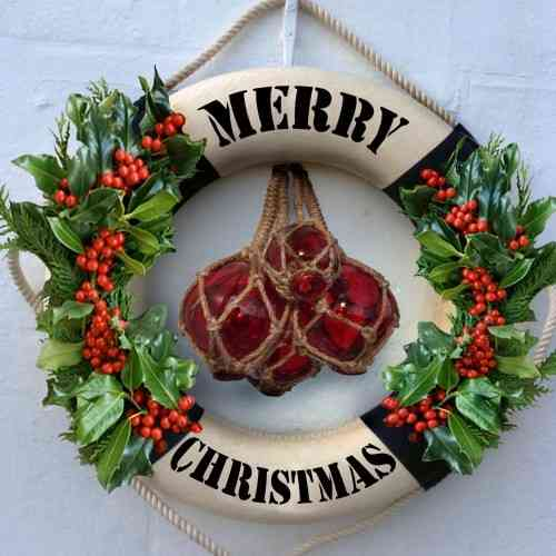 Merry Christmas Life buoy card