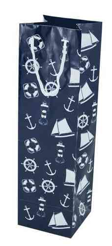 Nautical gift bag 10x10x35 cm