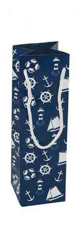 Nautical gift bag 7x7x23 cm