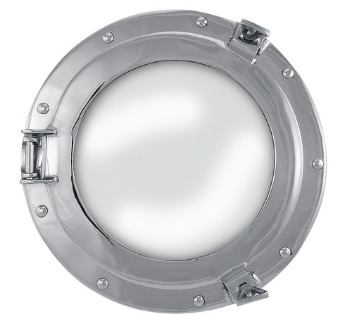 Porthole mirror nickel plated brass