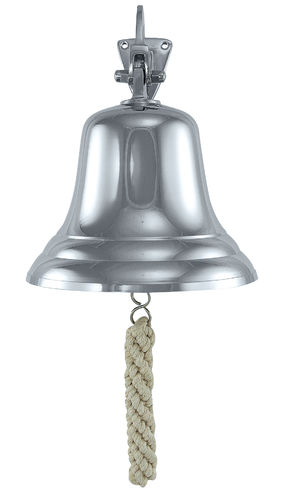 Ship's bell, nickel plated brass Ø:15cm