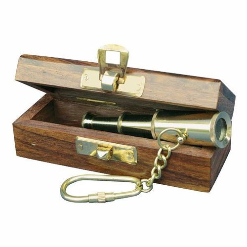 Keyring Telescope in wooden box