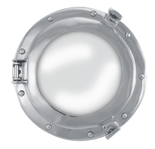 Porthole-Mirror, nickel plated aluminium Ø: 28/17,5cm