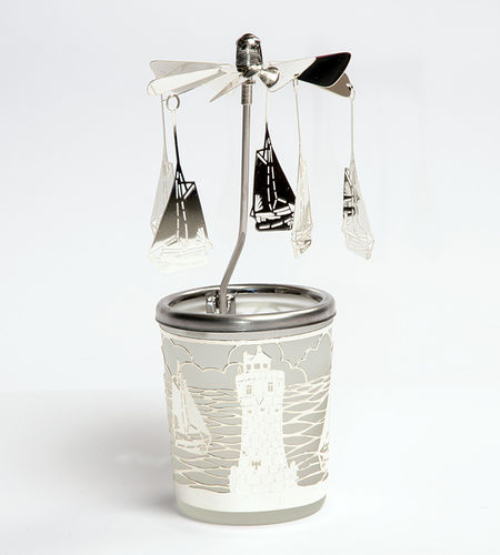 Tealight holder Ships and lighthouse