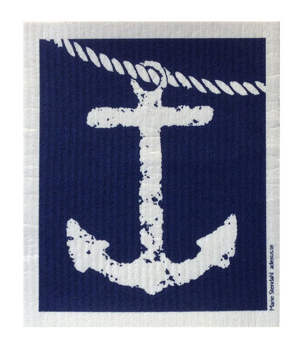 Dish cloth anchor