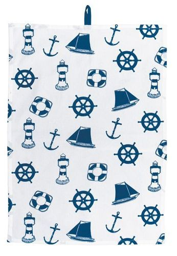 Kitchen towel maritime