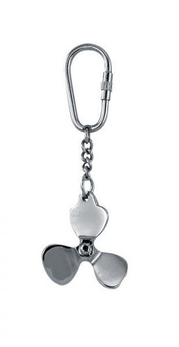 Keyring ship´s propellor nickel plated
