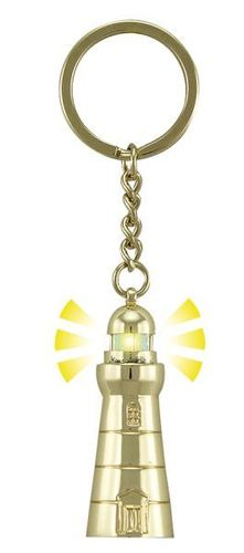 Keyring lighthouse with a light