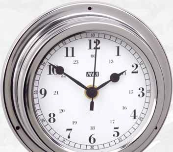Clock 160/125 mm stainless steel