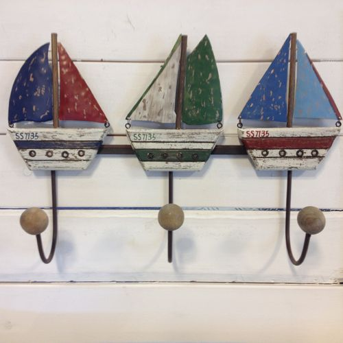 Sailboat coat rack