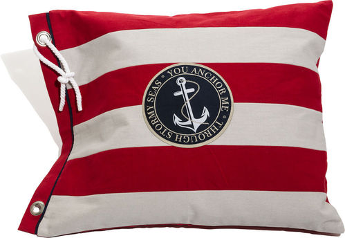 red striped anchor cushion cover