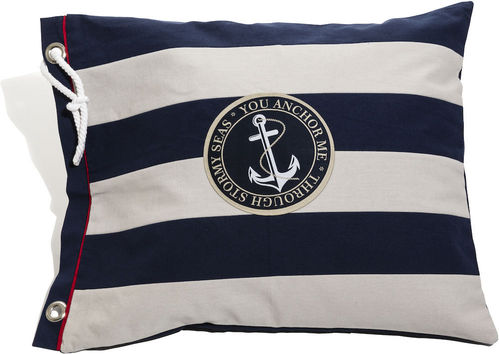 Blue striped anchor cushion cover