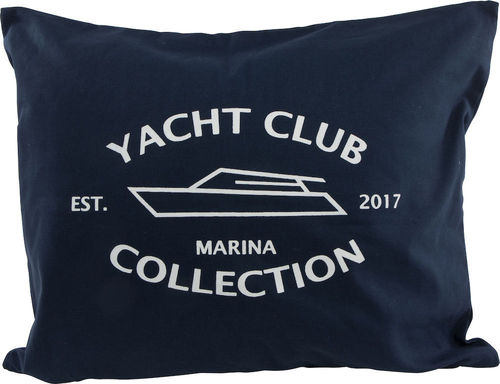 Dark blue Yacht Club Cushion Cover
