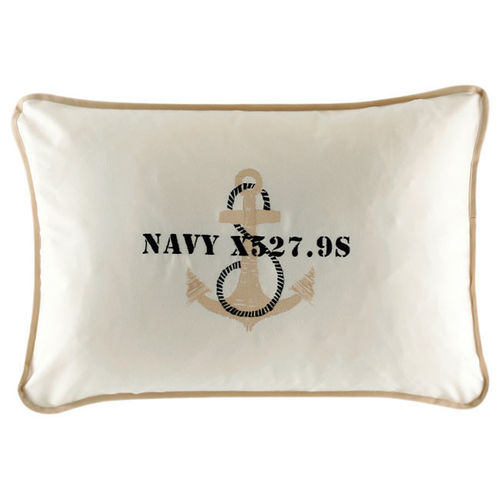 Free Style ecru pillow with anchor 40x60 cm