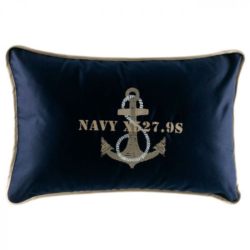 Free Style blue pillow with anchor 40x60 cm