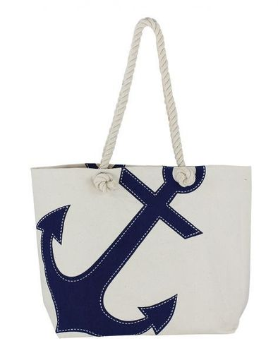 Bag with blue anchor