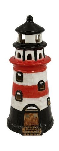 Red ceramic lighthouse 16,5 cm