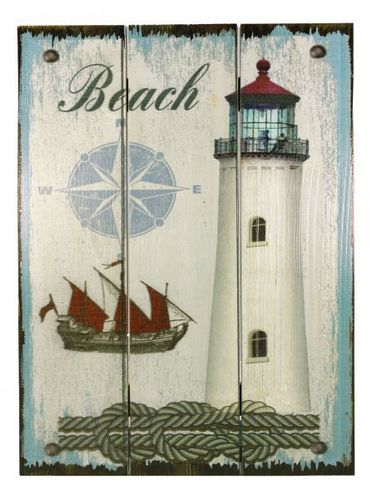 Wooden ligthouse-plate