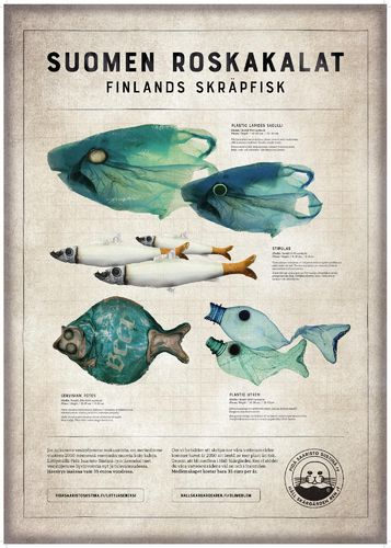 Rough fish -poster in Finnish and Swedish
