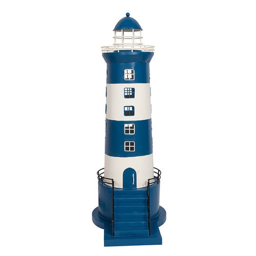Lighthouse electrified blue and white 67,5 cm