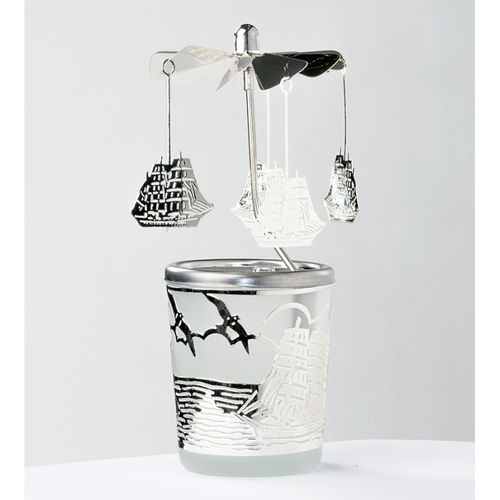 Tealight holder Ships and seagulls