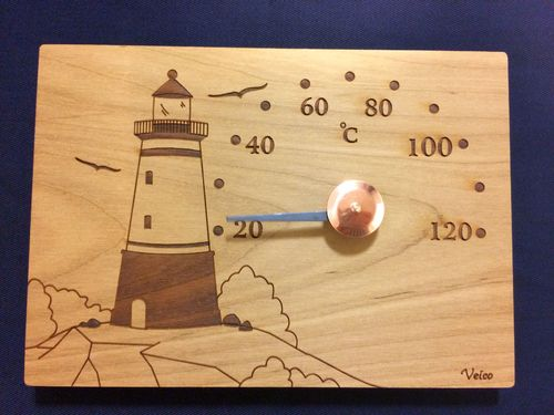 Sauna Thermometer Lighthouse