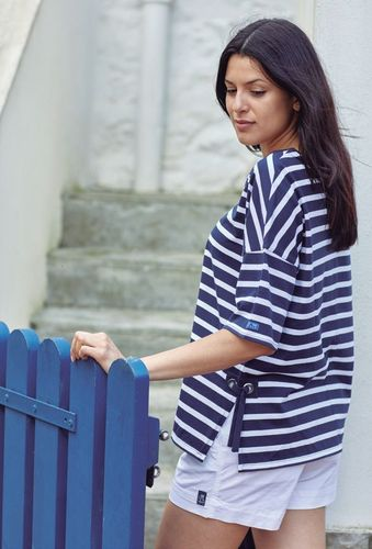 Striped oversize t-shirt for women
