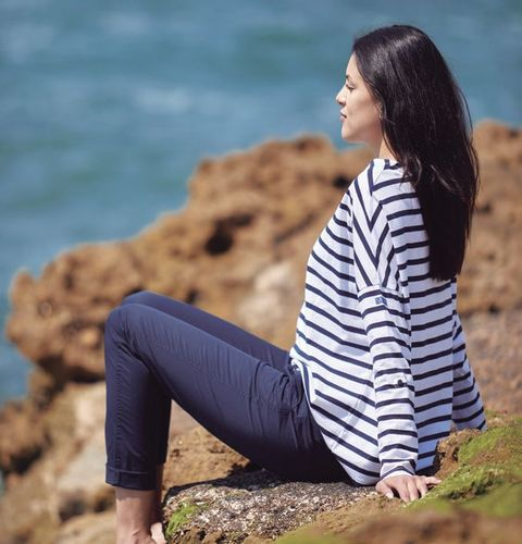 Striped oversize shirt for women