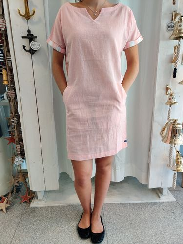 Linen-cotton dress for women