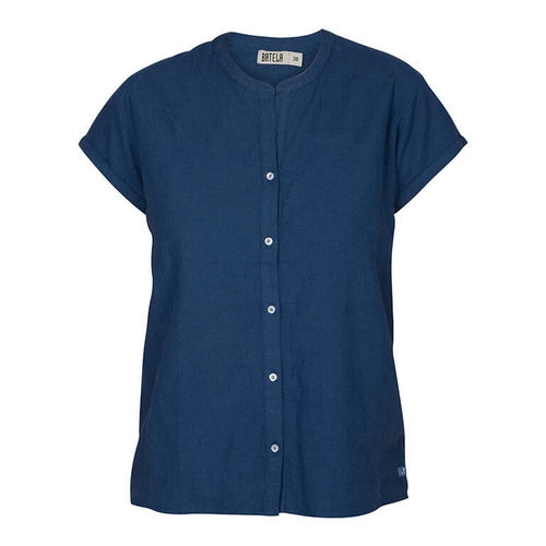 Linen-cotton shirt for women