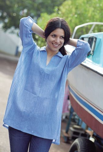 Crepe tunic for women