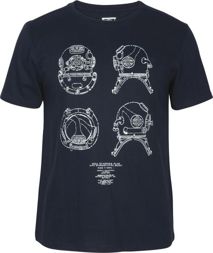 T-shirt with diving helmet for men