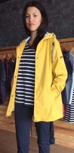 Short raincoat for women