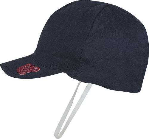 Navy hat with elastic band
