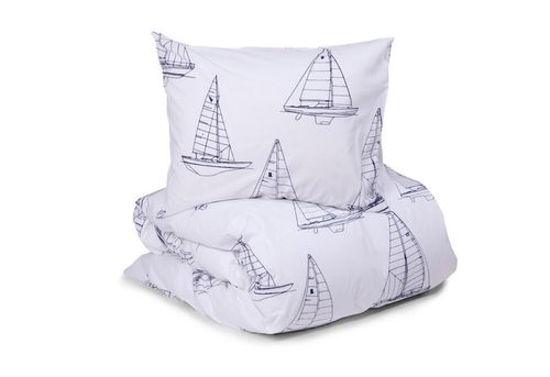 Duvet cover set Sailing white