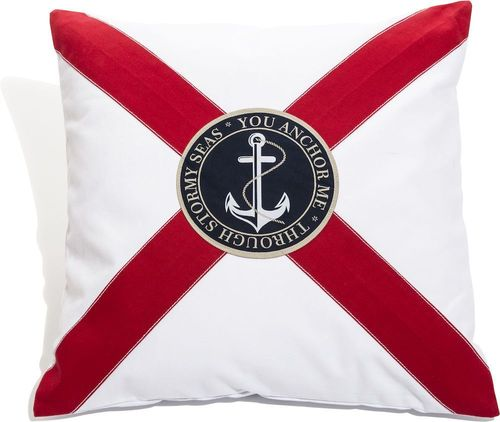 Anchor cushion cover with cross