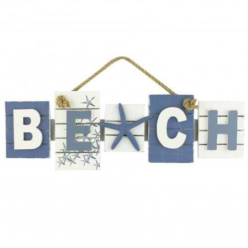 Beach sign with starfish 43 cm
