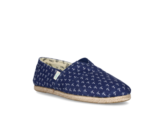 Women's canvas shoes with anchor print